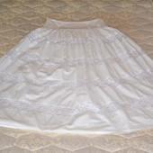Коттоновая длинная юбка