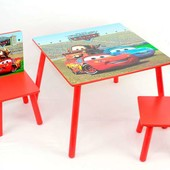 """Акция   Детский столик со стульчиками  466 235 """"Тачки"""""""