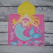 Фирменное Детское полотенце пончо Русалка русалочка с капюшоном