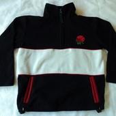 Фирменный флисовый свитер на 5-6 лет