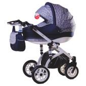 Универсальная коляска 2в1 Adamex York 979G, фиолетовый в маки