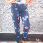 Хит.Синий джинс в цветочки Hollister  . Р.25