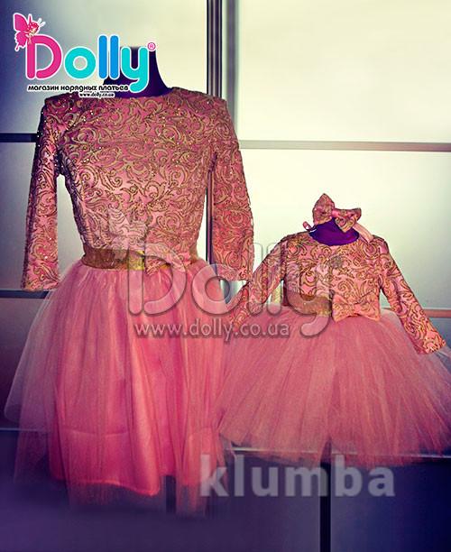 Праздничные одинаковые платья для мамы и дочки