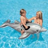 Детский надувной плотик Intex 58535   Дельфин ( 175x66 см)