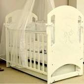 Кроватка Верес Соня ЛД-8 «Мишка со стразами», слоновая кость