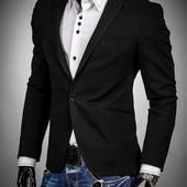 Пиджак с латками черный