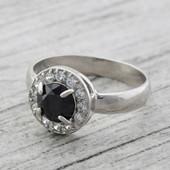 Кольцо серебряное Бездна 1148
