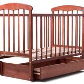 Детская кроватка Наталка маятник с ящиком