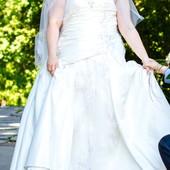 Продам свадебное платье большого размера 58 62р.