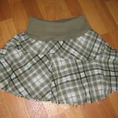 Теплая юбка с широкой резинкой