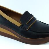 Стильные лофферы-слиперы туфли на танкетке