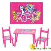"""Детский столик с двумя стульчиками """"Маленькая пони"""""""