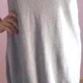 Туника-платье серая PlusSize M-L