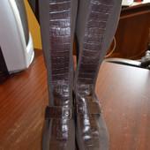 женские сапоги-чулки c кожаными вставками Ara 39 размера