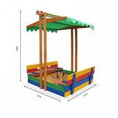 Песочница деревянная цветная -10