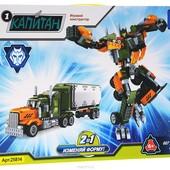 Конструктор Ausini 25814 Капитан Сражение 2в1 робот или фургон