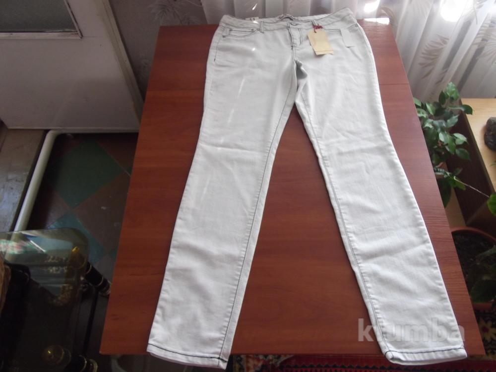 белые легкие штаны с красивой строчкой фото №1