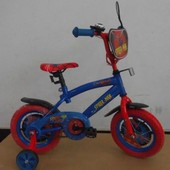 Велосипед 2-х колесный 12'' 141209 Спайдер Мен со звонком, зеркалом, с вставками в колесах
