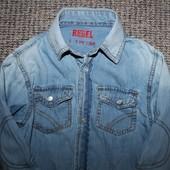 Рубашка тоненький джинс Rebel на 5-6 год
