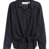 #204. Новая стильная свободная блуза для девочки или мамы от H&M с кружевными вставками, 11-12 лет