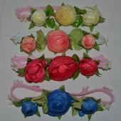 Ободок повязка цветок цветочная разные цвета