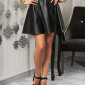Стильная женская юбка из искусственной кожи