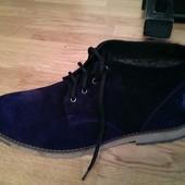 зимние мужские ботинки цвета  Код: 333