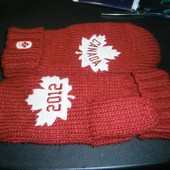 Сanada 2012 olympic acril gloves варежки L/XL муж