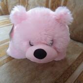 """Игрушка-подушка - трансформер """"Мишутка"""" розовый"""