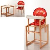 Виваст Слон MV 100 стульчик для кормления трансформер Vivast деревяный столик