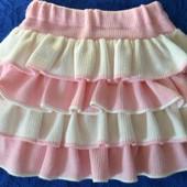 Свяжу для Вашей малышки теплую юбку с воланами.