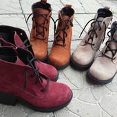 Женские ботинки Натуральный нубук  Осень и зима