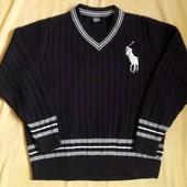 Мужской тёплый свитер Polo оригинал р.48