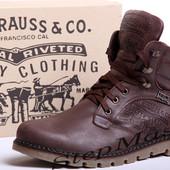 Мужские кожаные ботинки Levis Б 25-04
