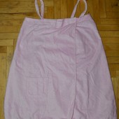 Фирменное полотенце огромное плотное натуральное в сауну или бассейн