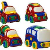 Распродажа - Машинки 1+ в ассортименте (кран, бетономешалка, гоночный автомобиль) от Jackpot