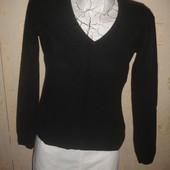 Фирменный F&F кашемировый черный теплый свитер пуловер