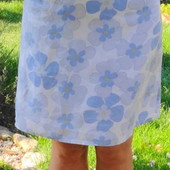 H&M. Льняная юбка на подкладке.