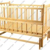Кроватка деревянная с маятниковым механизмом №8