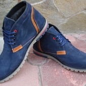 Ботинки мужские. Зимние. А-12. натуральные нубук и цигейка