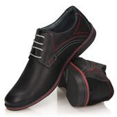 Мужские ботинки из натуральной кожи , Польша