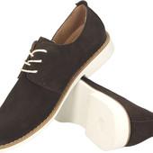 Коричневые мужские ботинки из натуральной кожи , Польша