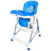 Стульчик для кормления-с корзиной, на колесах, стопор, синий