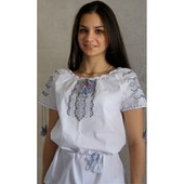 Вышиванка для женщин с коротким рукавом, весна-лето №6