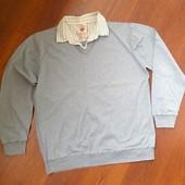 Мужской пуловер свитр Next с элементом рубашки L-XL