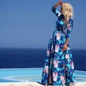 7-60 Женское платье / Платье в пол / Длинное платье