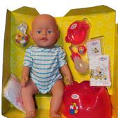 Кукла Беби Берн (Baby Doll) 058, 8 функций, 10 аксессуаров, горшок, памперс