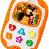 Бебифончик 18х13 см. украинский русский  от  Маша и медведь телефон айфон мобильный