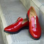 Туфли. Натуральная лаковая кожа