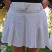 Dolce Donna. Супер мини белая юбочка